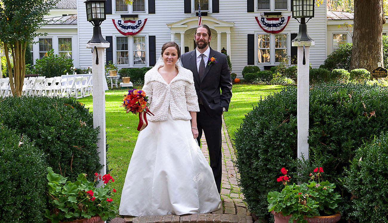 Wedding packages at A Williamsburg White House Inn, Williamsburg Virginia